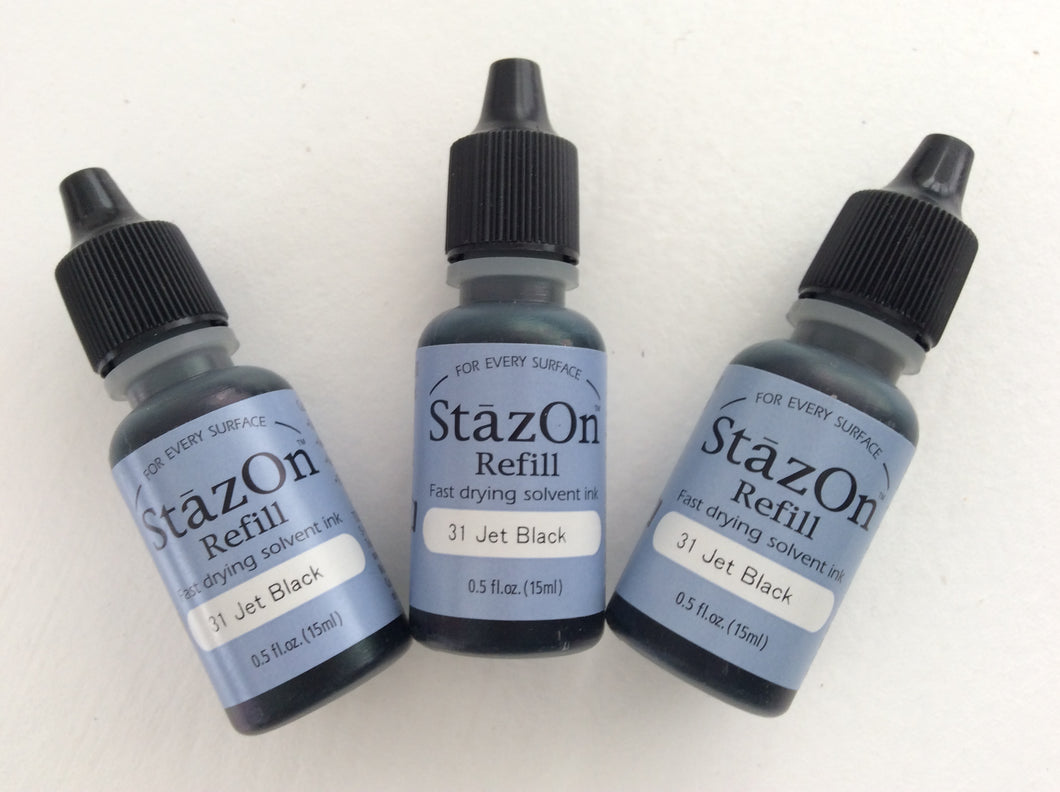 The Tsukineko StazOn Refill - Fast Drying Solvent Ink 15ml