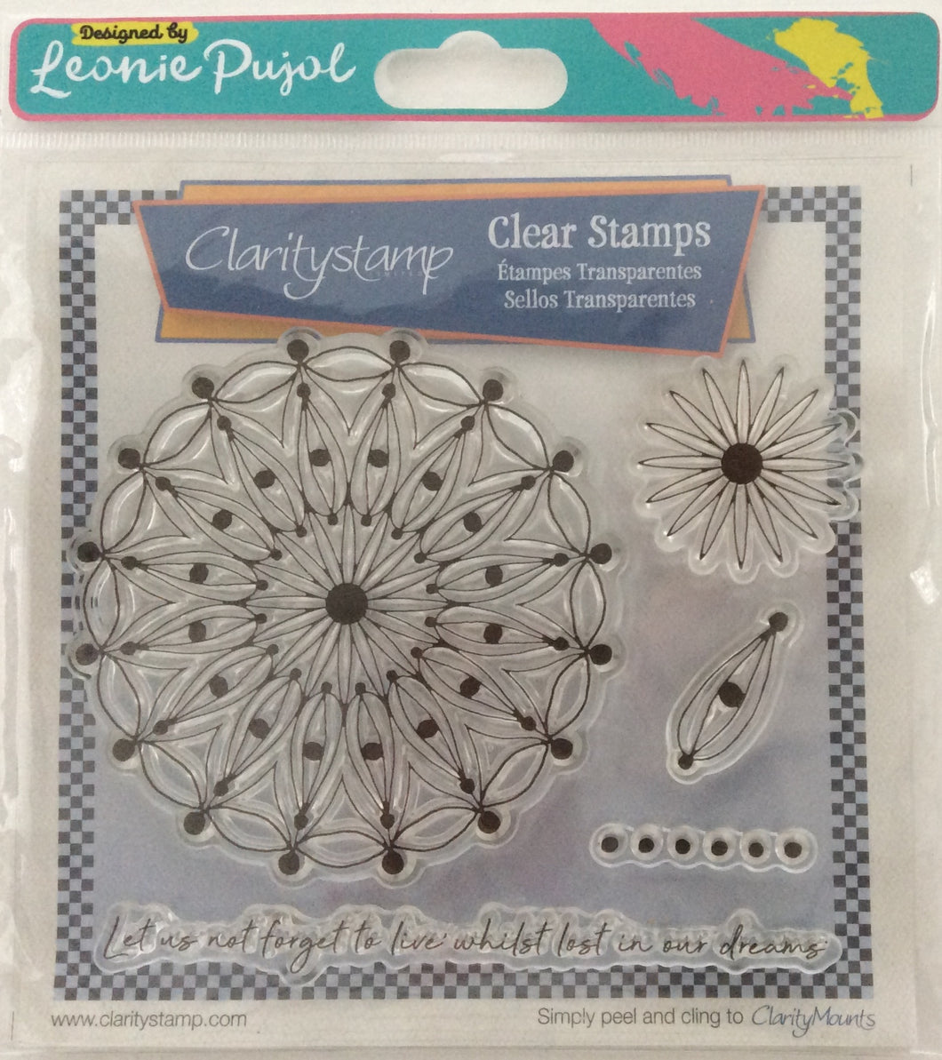 Clarity Stamp Unmounted Clear Stamp Set of 5 Designed by Leonie Pujol - Dream Circus