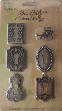 Idea-ology by Tim Holtz - 5 Keyholes & 10 Fasteners