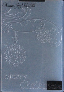 Couture Creations Embossing Folder - Christmas Collection: Xmas Joy To All
