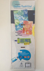 "Gel Press Petites Reusable Gel Printing 3"" Plates pack of 3"