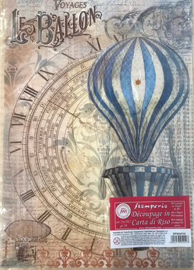 Stamperia Rice Paper decoupage A4 air balloon, vintage DFSA4114
