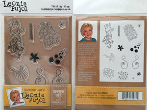 SALE Crafters Companion Photopolymer Stamp Set Designed by Leonie Pujol A6 - Tangled Tails