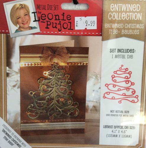 "Leonie Pujol Entwined Collection Entwined Christmas Tree- Baubles 4.1"" x 4.6"""