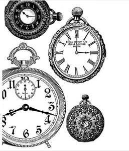 Stamperia Decoupage Rice Paper Black & White Clocks A4