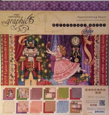 "Graphic 45 Nutcracker Sweet 12"" x 12"" Paper Pad - 24 Sheets"