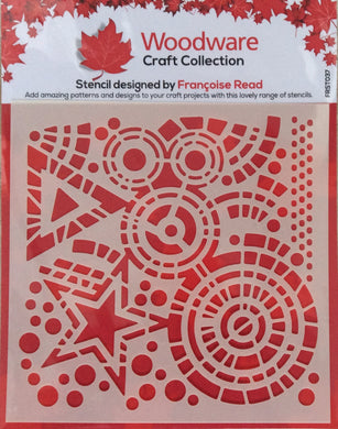 Woodware Stencil by Francoise Read - Stars & Circles 6