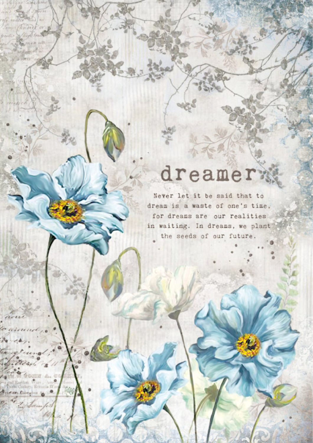 Stamperia Decoupage Rice Paper A4 Dreamer DFSA4249