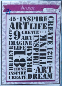 Creative Expressions Designed by Sam Poole - Art College Rubber Stamp