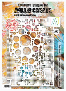 AALL & Create Stencil designed by Autour de Mwa -A4  -Totally Dotty #87