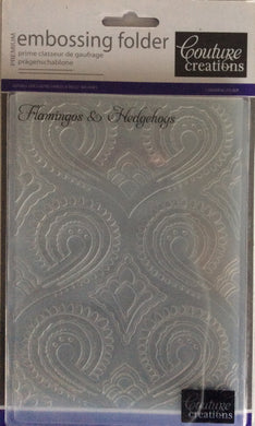 Couture Creations Embossing Folder - Dreamscapes Collection: Flamingos & Hedgehogs