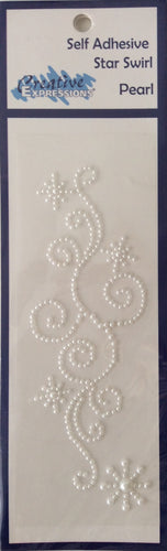 Creative Expressions Self Adhesive Star Pearl Swirl