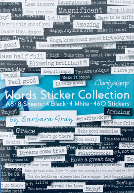 Clarity Words Stickers Collection by Barbara Gray A5 - pack of 8