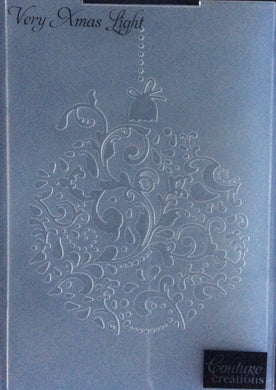 Couture Creations Embossing Folder - Christmas Collection: Very Xmas Light