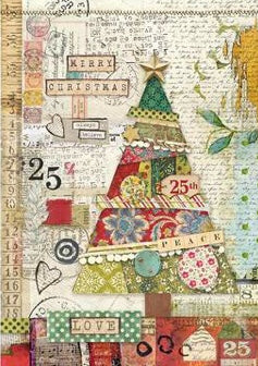 Stamperia - Patchwork Tree Decoupage - Rice Paper A4