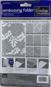 Couture Creations Embossing Folder - Art Nouveau Collection: Compassionate