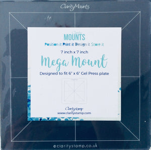 "Clarity Stamp Mega Mount 7"" x 7"""
