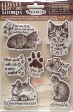 Stamperia High Definition Stamp Cats - 14cm x 18cm