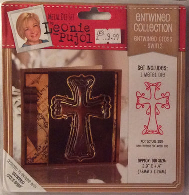 "Leonie Pujol Entwined Collection Entwined Cross Swirls - 2.9"" x 4.4"""