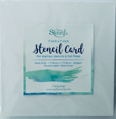 "Clarity Stamp Stencil Card Matte Finish 250gsm 7""x 7"" Pack of 50 sheets"