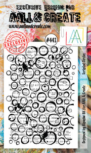 AALL & Create - A6 Clear Stamp Set Designed by Bipasha Bk - Scripted Circles #443
