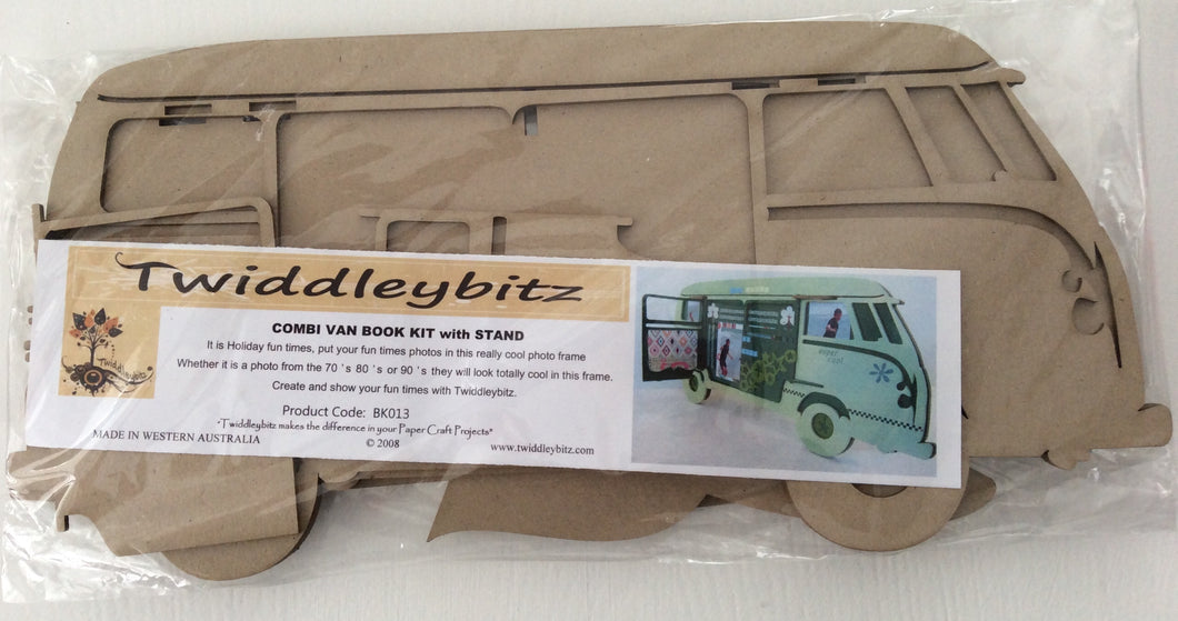 Twiddleybitz MDF Combi Van Book Kit with Stand