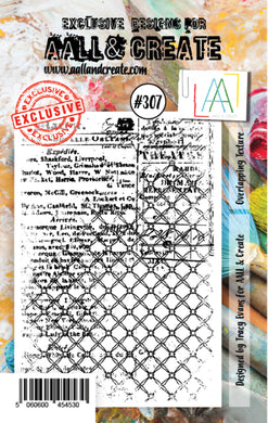 AALL & Create - A7 Clear Stamp Set Designed by Tracy Evans - Overlapping Texture #307