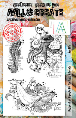 AALL & Create - A5 Clear Stamp Set Designed by Bipasha Bk - Sea Life #390