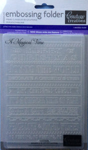 Couture Creations Embossing Folder - Wrapped in Joy Collection - A Magical Time