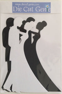 Genie Silhouette Die Cut Sets - The Wedding Couple Set x 6