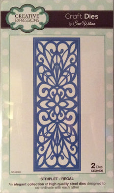 Creative Expressions Craft Dies by Sue Wilson Striplet - Regal 2 Dies