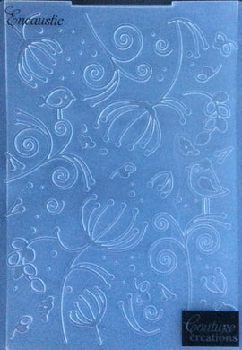 Couture Creations Embossing Folder - Serenity Collection: Encaustic