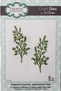 Creative Expressions Craft Dies by Sue Wilson Finishing Touches - Maidenhair Fern 2 Dies