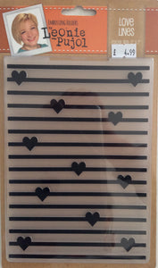 "Crafters Companion Embossing Folders by Leonie Pujol - Love Lines 5"" x 7"""