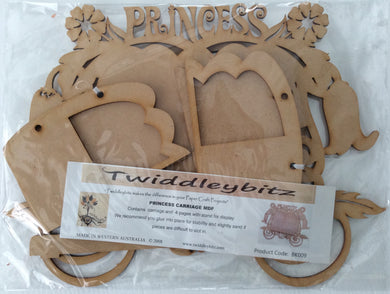 Twiddleybitz MDF Princess Carriage