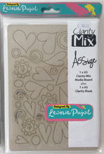 Clarity Mix A5 Mixed Media Board & A5 Mask Set - Heart Shapes
