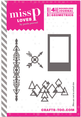 Miss P Loves Die Set Designed by Paula Pascual - Boundless Journal - Geometrics - 4 Dies