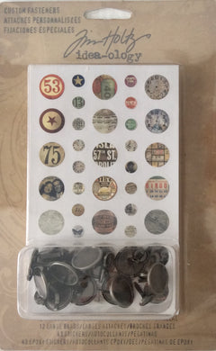Idea-ology by Tim Holtz - Custom Fasteners 12 Large & 12 Small