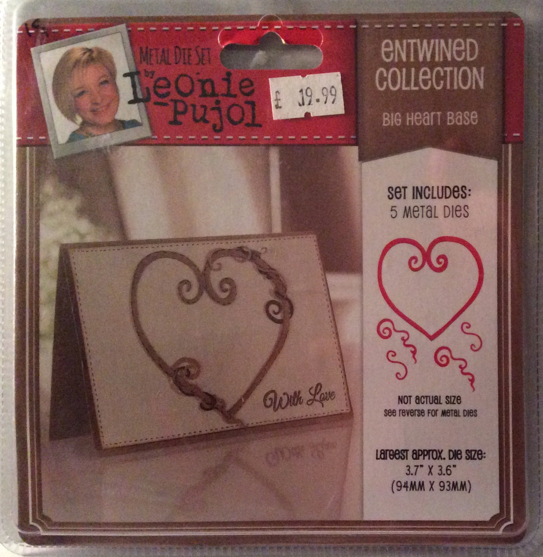 "Leonie Pujol Entwined Collection Big Heart Base - 3.7"" x 3.6"""