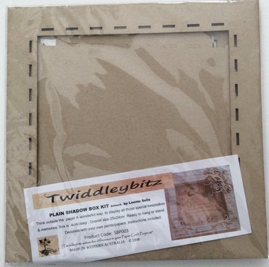 Twiddleybitz MDF Plain Shadow Box Kit