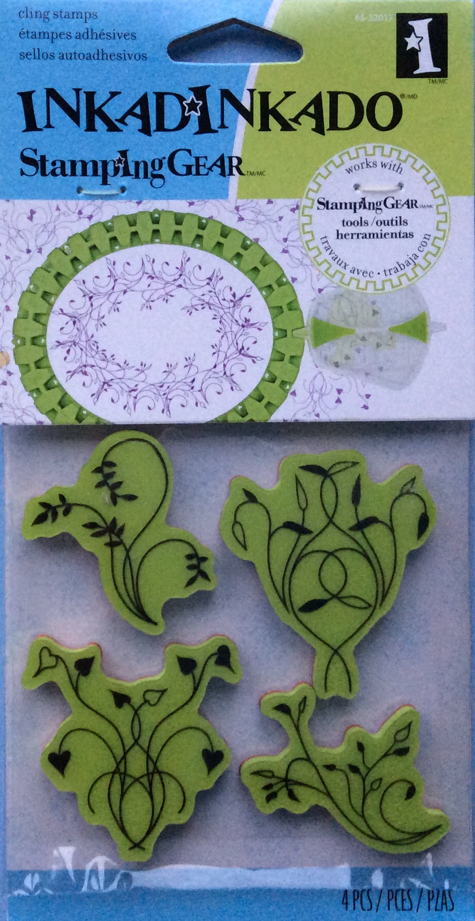 Cling Stamps - Inkadinkado Stamping Gear 4 Piece Rubber Stamp Set - Twisted Vines