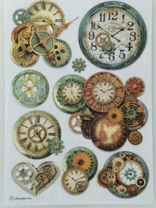 Stamperia Decoupage Rice Paper A4 Clocks