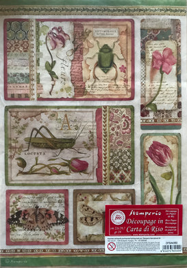 Stamperia Rice Paper decoupage A4 botanical DFSA4363