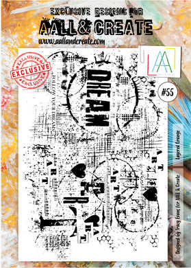 AALL & Create - A4 Clear Stamp Set Designed by Tracy Evans - Layered Grunge #55