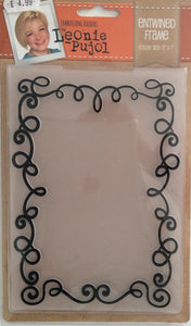 "Crafters Companion Embossing Folders by Leonie Pujol - Entwined Frame  5"" x 7"""