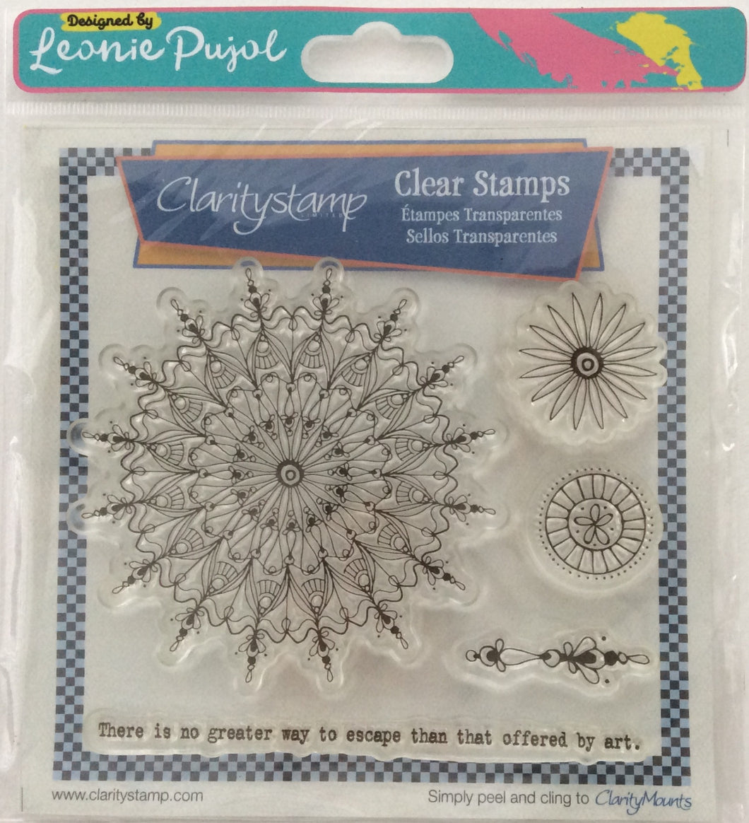 Clarity Stamp Unmounted Clear Stamp Set of 5 Designed by Leonie Pujol - Art Circus