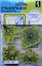 Cling Stamps - Inkadinkado Stamping Gear 4 Piece Rubber Stamp Set - Halloween Stamps