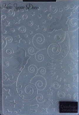 Couture Creations Embossing Folder - Christmas Collection: New Year Dove
