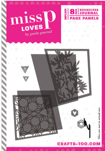 Miss P Loves Die Set Designed by Paula Pascual - Boundless Journal - Page Panels - 8 Dies