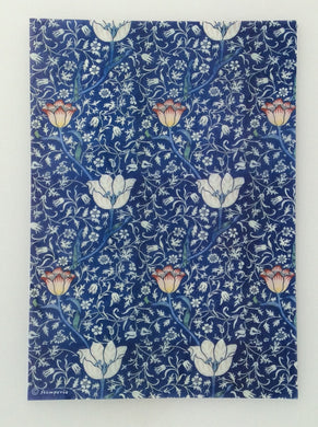 Stamperia Deep Blue Paisley Flowers Decoupage Rice Paper A4